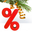 Christmas discount — Stock Photo