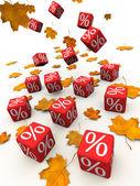 Autumn discount — Stock Photo