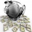 Steel piggy bank — Stock Photo #4086663