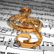 Stock Photo: Trable clef