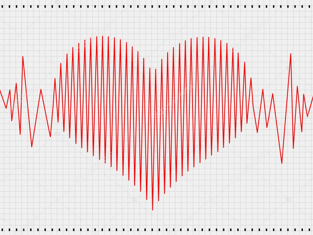 Abstract heart cardiogram  Stock Photo #4775485