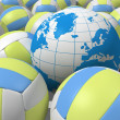 Stock Photo: Balls and globe