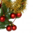 Branch Decorated For Christmas — Stock Photo