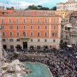 Stock Photo: View Above Trevi Fountain