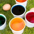 Coloring Eggs — Stock Photo
