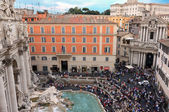 View Above Trevi Fountain — Stock Photo