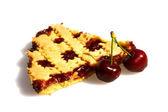 Tranche de tarte aux cerises — Photo