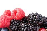 Raspberries And Blackberries — Stock Photo