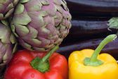 Colors Of Food - Green, Red, Yellow And Dark Purple — Stock Photo