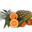 Stock Photo: Pineapple And Tangerines