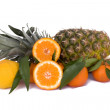 Stock Photo: Pineapple, Tangerines And Bergamot