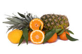 Pineapple, Tangerines And Bergamot — Stock Photo