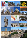 Collage With Pictures From Lazio, Italy — Stock Photo