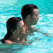 Couple In The Swimming Pool — Stock Photo