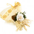 Wedding Favor Decorated With Rose - Stock Photo