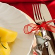 Detail Of Christmas Table — Stock Photo