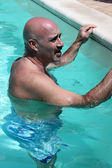 Man In The Pool — Stock Photo