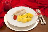 Fish Plate On Christmas Table — Stock Photo