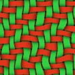 Red - Green Twill Background - Stock Photo