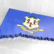 3d - Flag map of Connecticut — Stock Photo #3950839