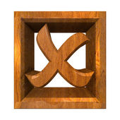 Ko tick in wood isolated - 3D — Stock Photo