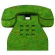 Phone symbol in grass - 3D — Stock Photo