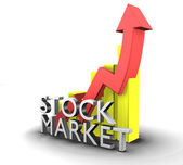 Statistics graphic with sales stock market — Stock Photo