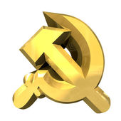 Hammer and sickle symbol — Stock Photo