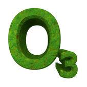 臭氧的绿草中的 3d 化学公式。 — 图库照片