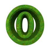 3d number 0 in green grass — Stock Photo
