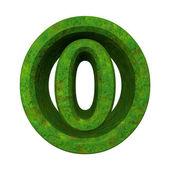 3d число 0 в зеленой траве — Стоковое фото