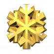 3D Snowflake in gold — Stock Photo