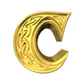 3d illustration of Celtic alphabet letter B — Stock Photo