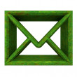 Envelope email symbol in grass (3d) — Stock Photo