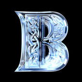 Illustration of Celtic alphabet letter B — Stock Photo