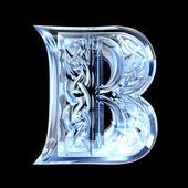 Illustration of Celtic alphabet letter B — Stock Photo