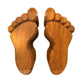 3d ног выводит в лесу — Стоковое фото