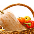 Stock Photo: Pumpkin cornucopia