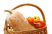 Pumpkin cornucopia — Stock Photo
