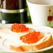 Sandwich with red caviar — Stock Photo #4422523