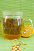 Green jasmine tea — Stock Photo