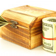 Money in casket — Stock Photo #4543169
