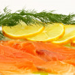 Salted salmon — Stock Photo #4619532