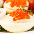 Eggs with red caviar — Stock Photo #4774707