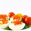 Eggs with red caviar — Stock Photo #4774712