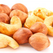 Hazelnuts and cashews — Stock Photo