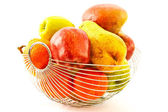 Ripe fruit in a vase — Stock Photo