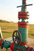 Oil wells valve — Stock fotografie