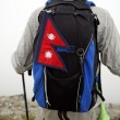 Mountaineer with Nepal flag — Stock Photo #4083824