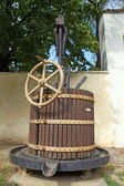Old wooden wine press — Stock Photo